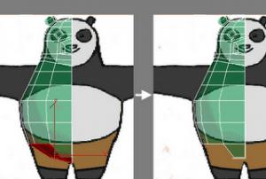 kungfu panda modeling