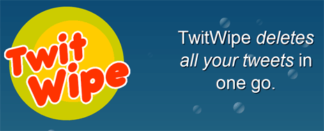 twit wipe hapus tweet twitter