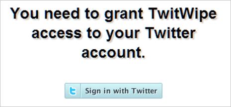 twit wipe login