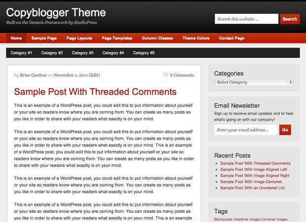 CopyBlogger Free Child Theme