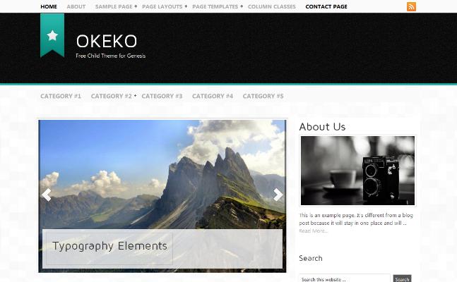 Okeko Free Child Theme