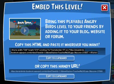 embed level