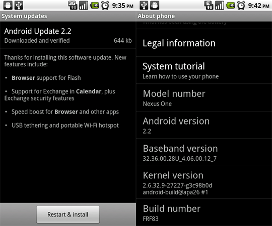 update smartphone android