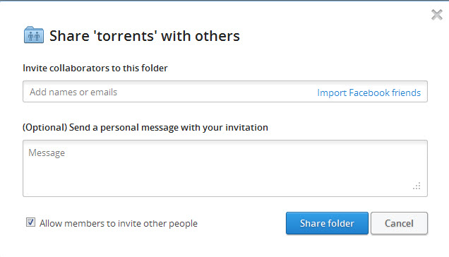 dropbox mengizinkan untuk mengundang orang lain