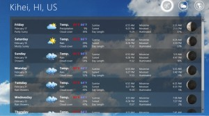elements weather forecast