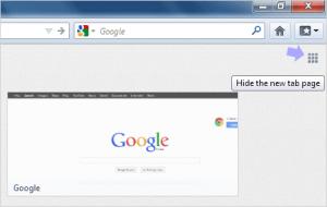 halaman kosong pada tab baru firefox