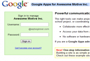 login google apps