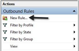 membuat aturan baru firewall