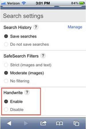 mengaktifkan google handwrite