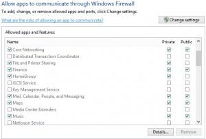 mengizinkan aplikasi di firewall