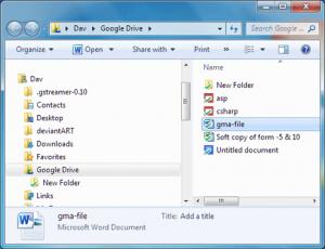 menyalin file ke folder google drive