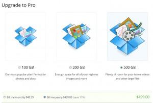paket pro baru dropbox