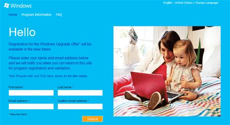 pendaftaran penawaran upgrade windows
