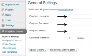 setting pingdom status