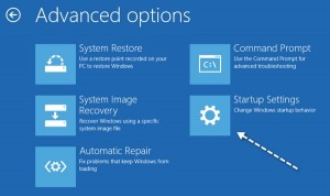 startup settings windows 8