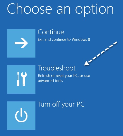 troubleshoot windows 8