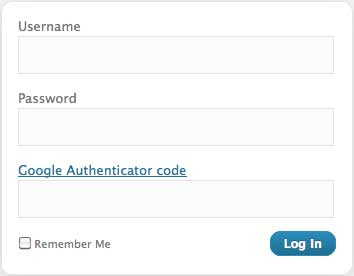 google authenticator wplogin