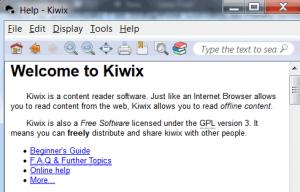 kiwix wikipedia reader