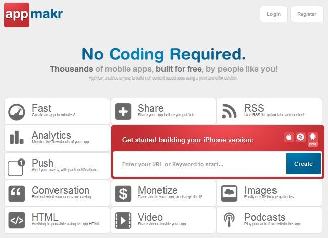 membuat aplikasi mobile dengan appmakr