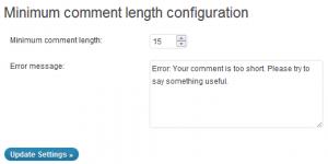 plugin WordPress Minimum Comment Length