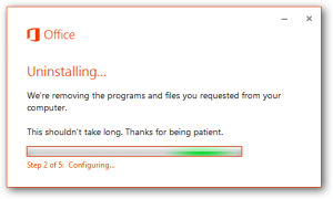 proses uninstall office 2013