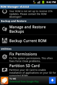 restore rom android