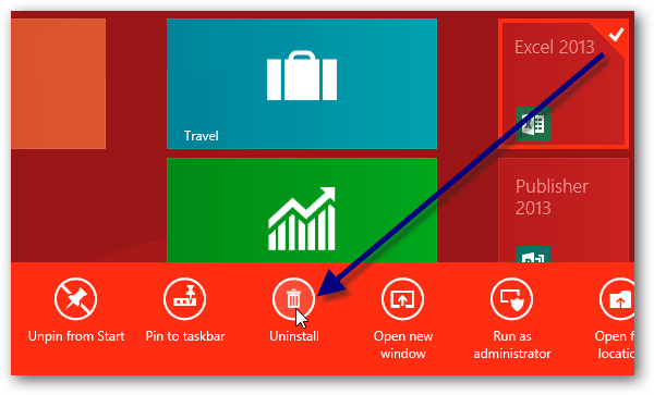 tombol uninstall office 2013 di windows 8