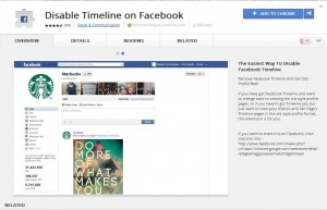 Disable Facebook Timeline Chrome Addon