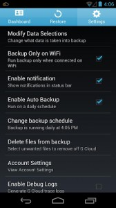 pengaturan backup android