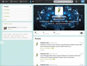 profil baru twitter