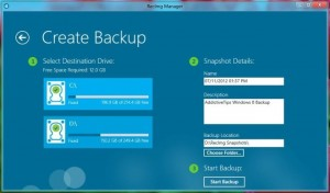 proses backup RecImg Manager Windows 8