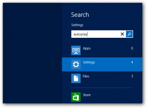 Search Settings Windows 8