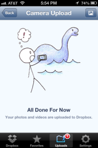 camera upload - dropbox