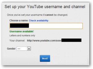 membuat username youtube