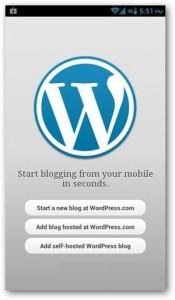 setting wordpress di android