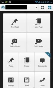 tombol wordpress.com aplikasi wordpress android