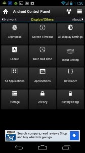 android control panel bagian display