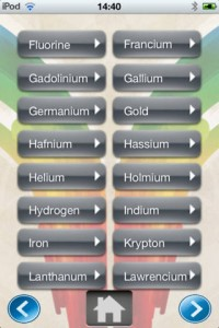 aplikasi ios Chemical Elements Pro