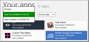 aplikasi windows 8 yang terinstal di komputer lain