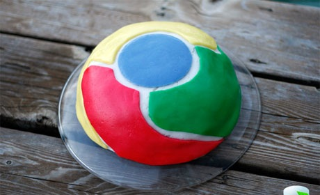 chrome browser cake
