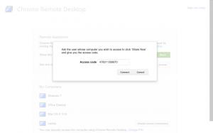 memasukkan kode chrome remote desktop