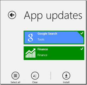 mengupdate aplikasi windows 8