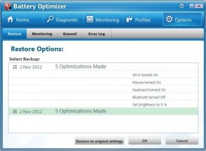 restore pada battery optimizer