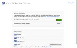 tombol share chrome remote desktop