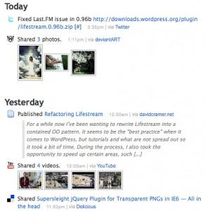 LIfestream WordPress Plugin