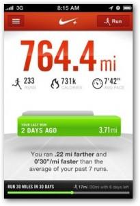 aplikasi iphone NikeRUnning