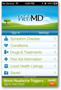 aplikasi iphone WebMD