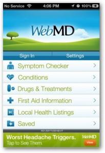 aplikasi iphone WebMD