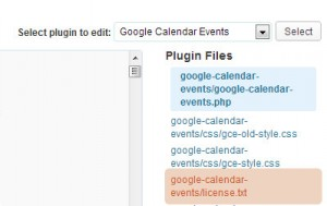 css google calendar events