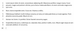 hasil line numbering di word 2013